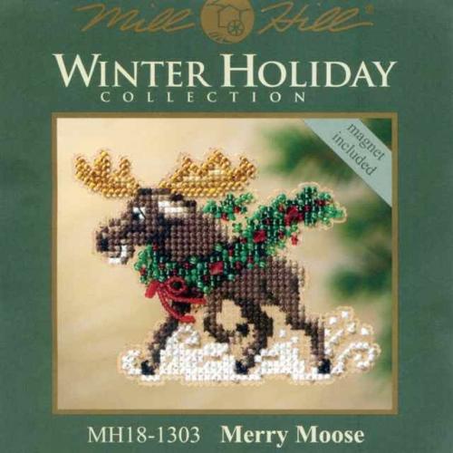 """Набор для вышивания бисером - магнит  """"Рождественский лось """"  """"Mill Hill..."""